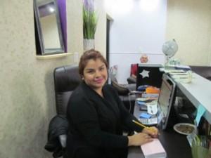 Our receptionist/dentist ass't /tequila cleaner-upper Elizabeth Martinez