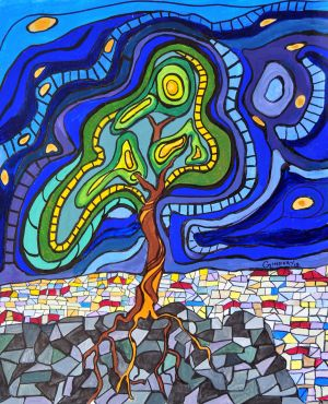 Flowing Tree Mosaic